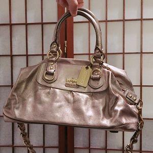 Coach rose gold bag